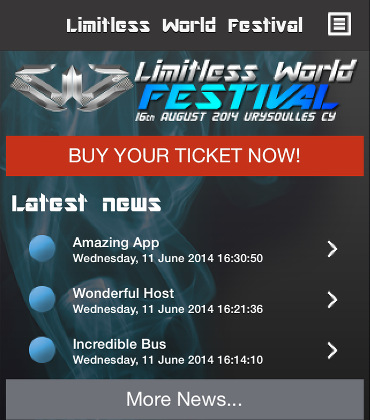 IOS application για το LimitlessWorldFestival
