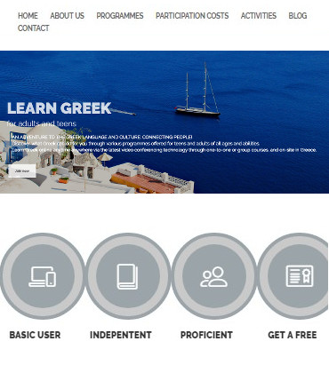 Επίσημος δικτυακός τόπος της Learn Greek, (Μαθήματα της ελληνικής γλώσσας σε ξένους)